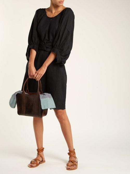Mini Gilbert Vichy gingham leather bag by