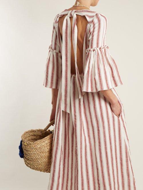 Georgianna striped linen dress by Three Graces London