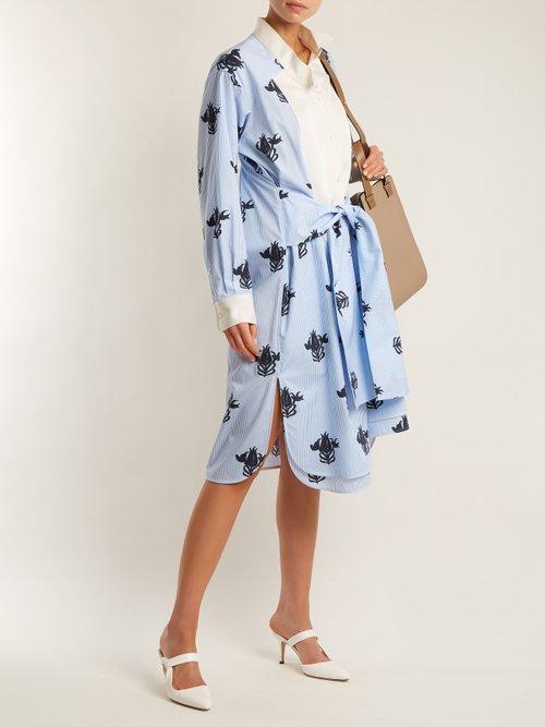 Floral-print tie-waist shirtdress by Loewe