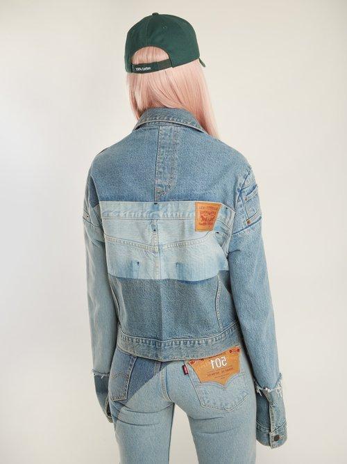 X Levi's reworked denim jacket by Vetements