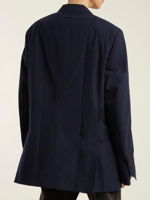 Oversized single-breasted cotton blazer by Vetements
