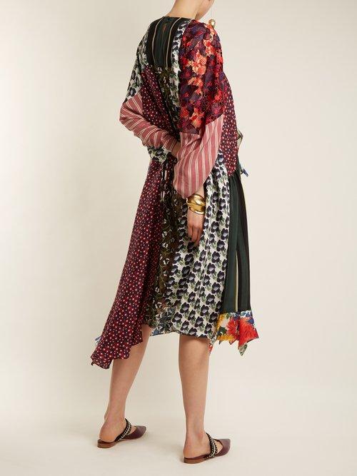 Arista Patchwork Silk Blend Dress by Biyan