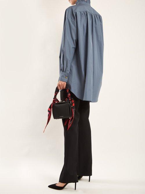 Ruffled-neck cotton-poplin shirt by Sonia Rykiel