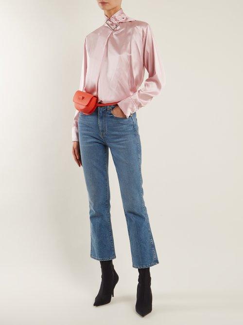 Buckle Collar Silk Satin Top by Marques'Almeida