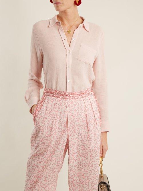 Patch-pocket cotton shirt by Masscob