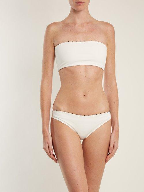 Corsica bandeau bikini top by Marysia