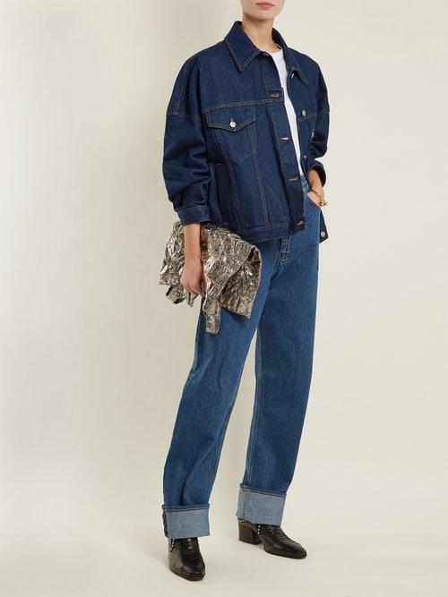 Oversized Cotton Denim Jacket by Mm6 Maison Margiela