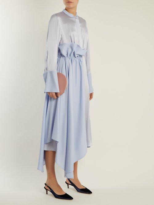 Micha Contrast Panel Silk Blend Shirtdress by Roksanda