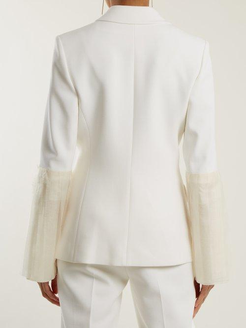 Alden silk-blend crepe blazer by Roksanda