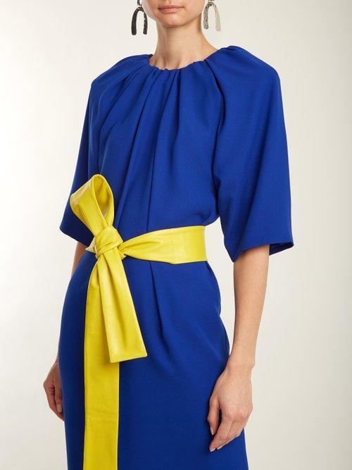 Ruched-neck crepe dress by Maison Margiela