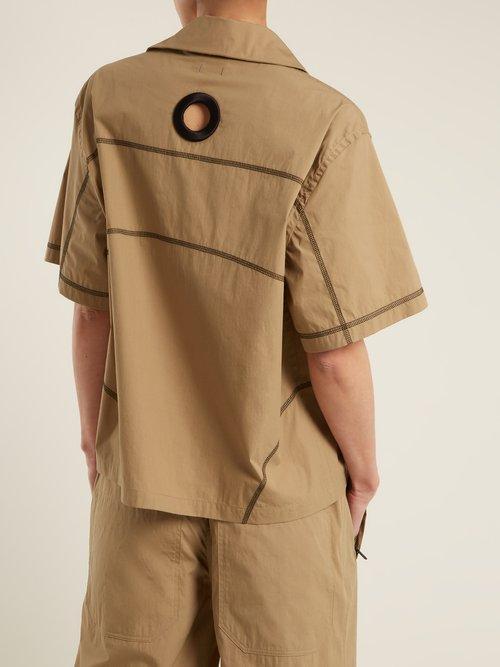 Contrast-stitch cotton-blend shirt by Craig Green