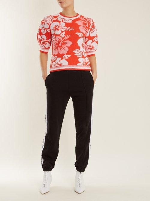 Hawaiian Print Terry Towelling Sweatshirt by MSGM
