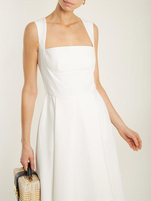 Doris flared-hem crepe dress by Osman