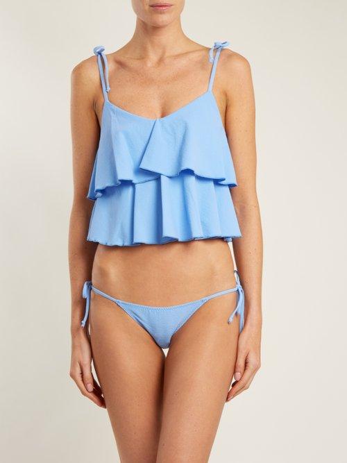 Imaan ruffle bikini by Lisa Marie Fernandez