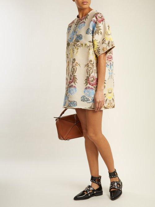 Floral Jacquard T Shirt Dress by Marques'Almeida