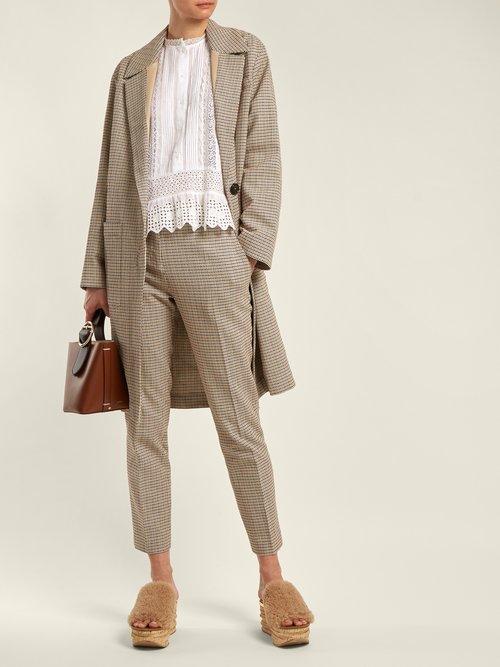 Iambo Checked Cotton Coat by Vanessa Bruno