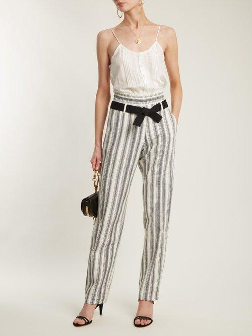 Isais tie-waist silk top by Vanessa Bruno