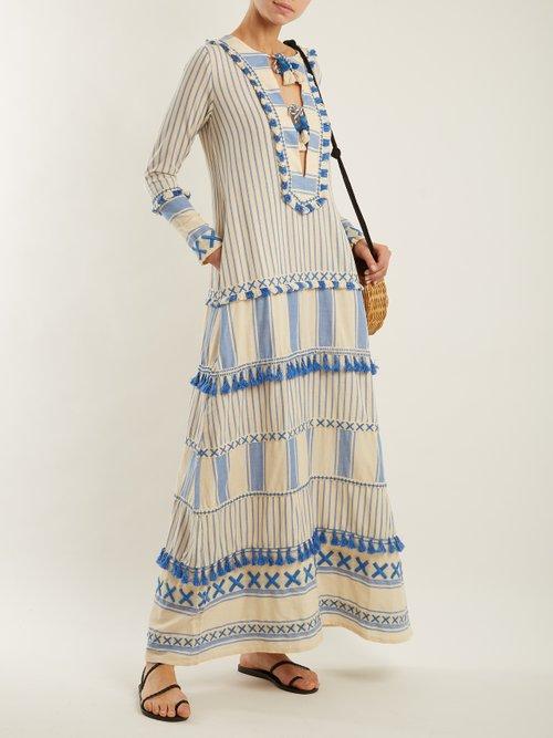 Samuelle striped cotton maxi dress by Dodo Bar Or