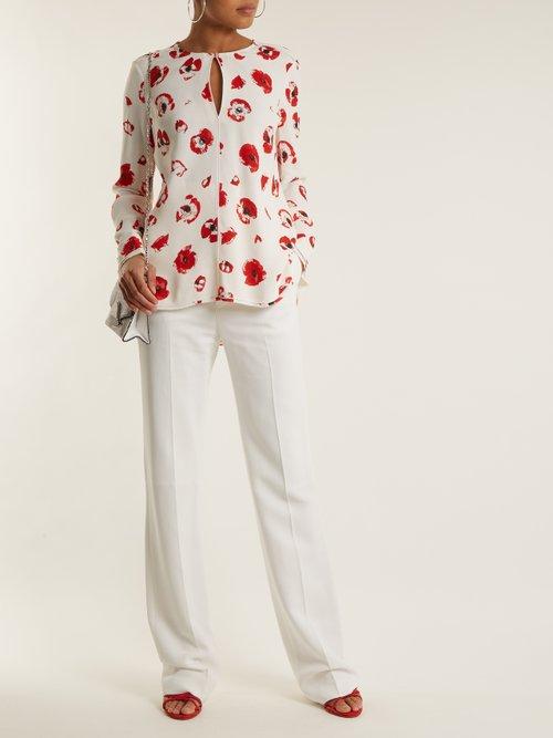 Poppy-print crepe blouse by Proenza Schouler