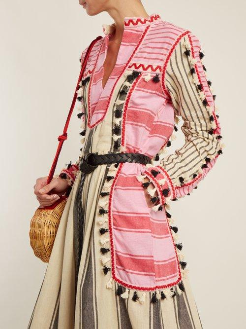 Stephanie striped cotton midi dress by Dodo Bar Or