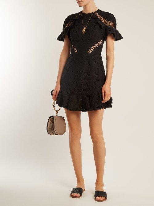Flutter broderie-anglaise cotton dress by Zimmermann