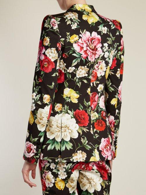 Floral-print peak-lapel blazer by Dolce & Gabbana