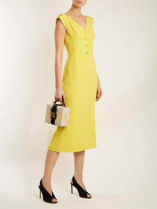 V-neck cady dress by Dolce & Gabbana