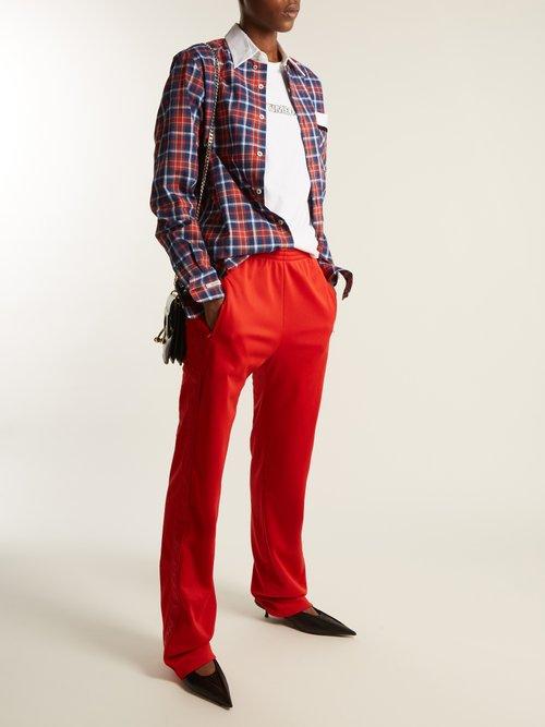 Stevie point-collar cotton-tartan shirt by Blouse