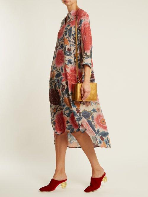 Adrianna floral-print silk kaftan by By Walid