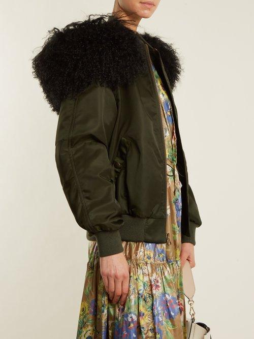 New York satin bomber jacket by Mr & Mrs Italy