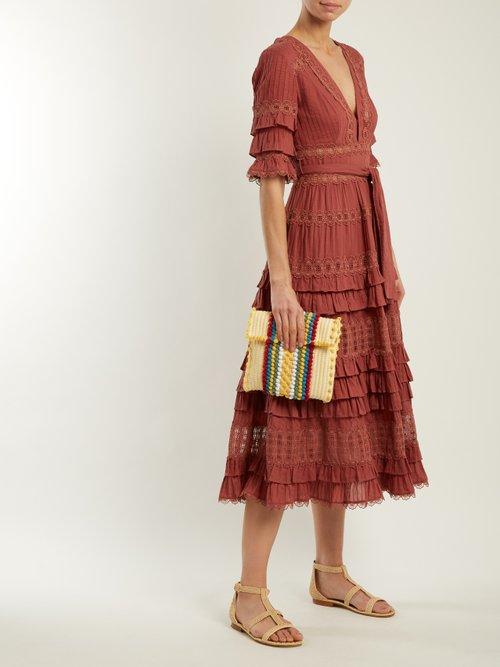 Suni cotton stripe cross-body bag by Antonello Tedde
