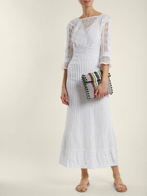 Suni Strisce striped cotton cross-body bag by Antonello Tedde