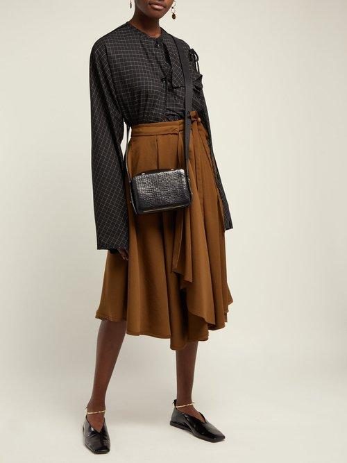 Maya small crocodile-effect leather cross-body bag by Lutz Morris
