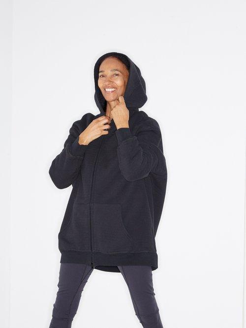 Zip-through Japanese-jersey hooded sweatshirt by Raey