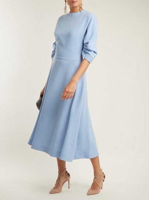 Photo of Amelia wool-crepe midi dress by Emilia Wickstead - shop Emilia Wickstead dressesonline sales
