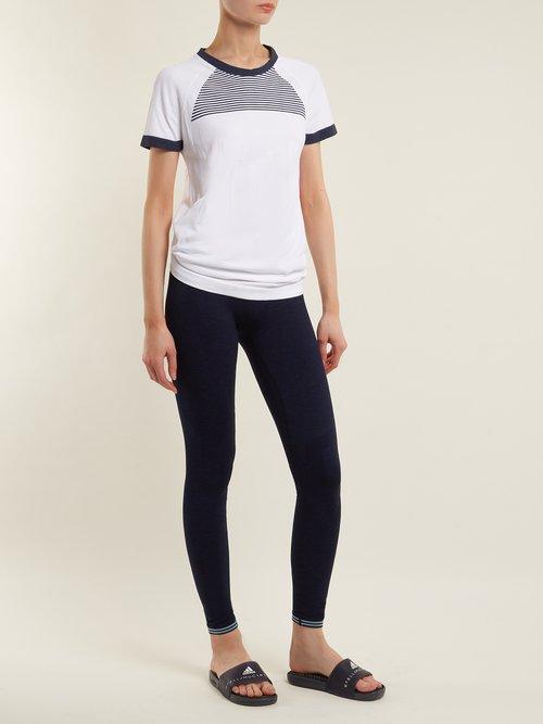 Optic performance cotton-blend T-shirt by Lndr