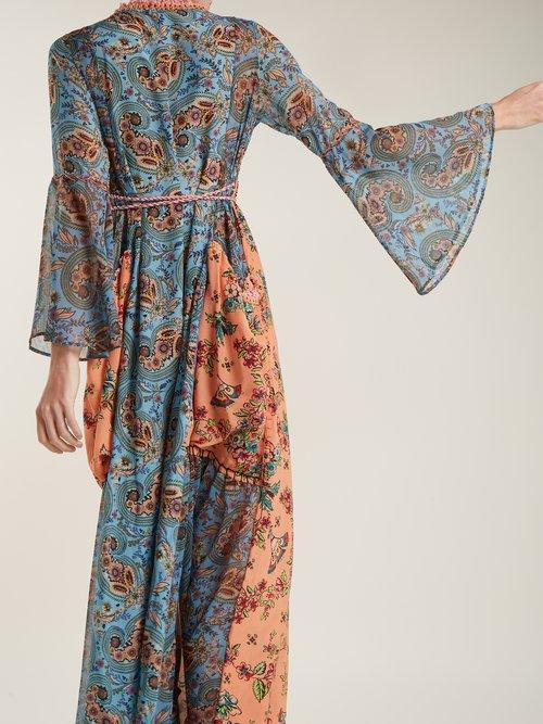 Severa floral print v neck maxi dress by Anjuna
