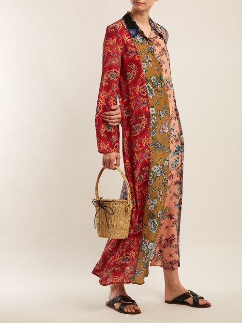 Augustina Panelled Silk Crepe Dress by Anjuna