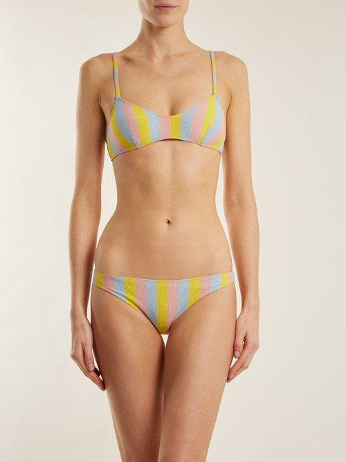 The Rachel striped bandeau bikini top by Solid & Striped