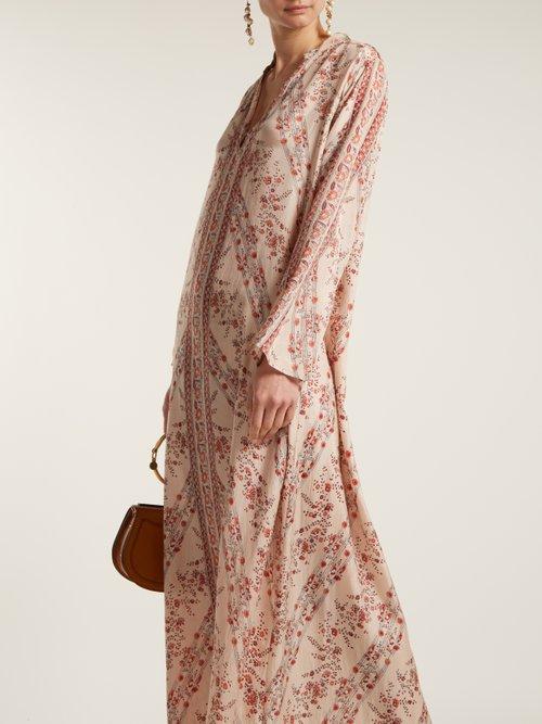 Bobo floral-print silk dress by Mes Demoiselles