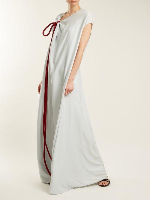Cilida Asymmetric Silk Blend Dress by The Row