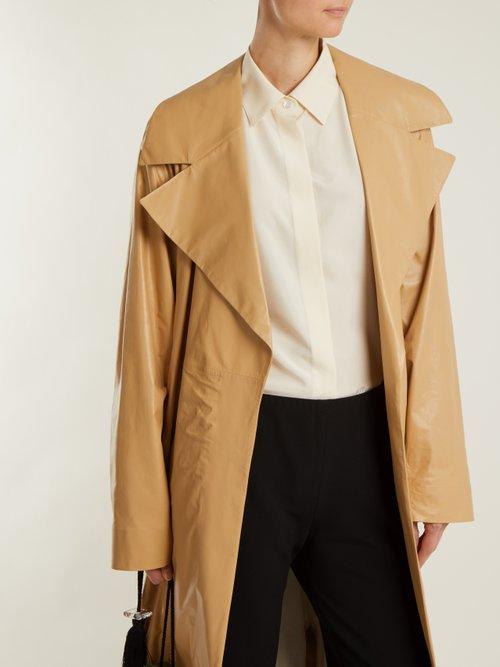 Big Sisea point-collar silk-poplin shirt by The Row