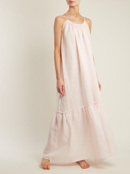 Round Neck Linen Dress by Pour Les Femmes