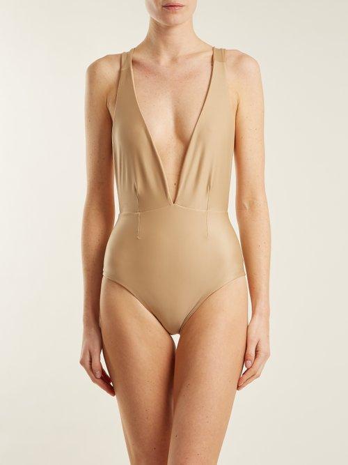 Marina deep V-neck swimsuit by Haight