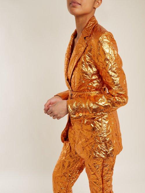 Terry crinkled-finish blazer by Sies Marjan