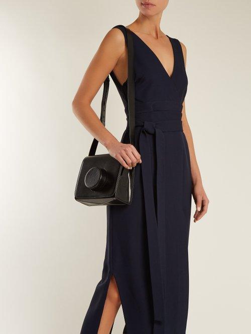 Angela V-neck wraparound-waist dress by Khaite