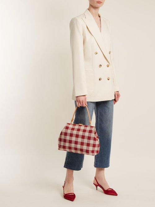 Checker Elegant top-handle canvas bag by Mansur Gavriel