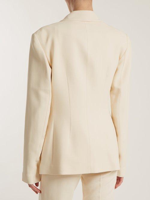 Sofia peak-lapel single-breasted blazer by Khaite