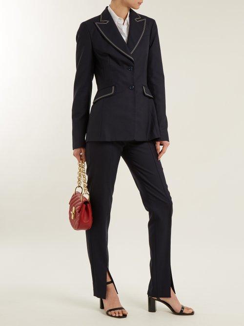 Serge contrast-stitch single-breasted wool blazer by Gabriela Hearst