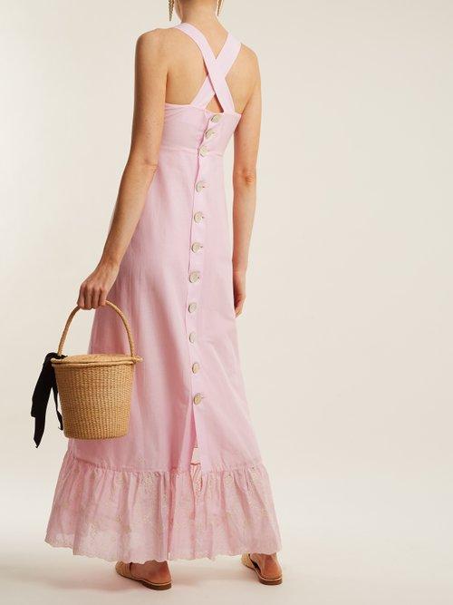 Shop Athena Procopiou Julia back-button dress online sale